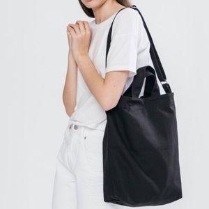 BAGGU Black Canvas Duck Tote Bag